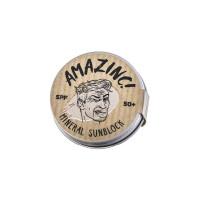 Disponibil in curand - Beige Mineral Sunblock SPF 50+, 25g, Amazinc!