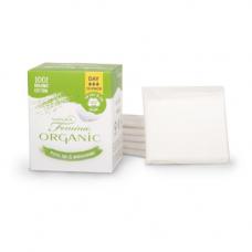Absorbante de zi din bumbac organic biodegradabile, 10 buc (3 picături)