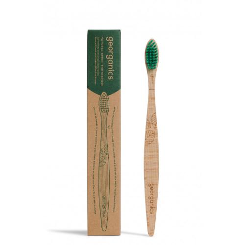 Periuță de dinți din lemn de fag MEDIUM, Georganics