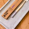 Periuță de dinți din bambus super-soft Mov, Hydrophil