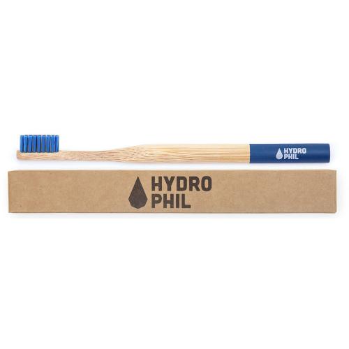 Periuță de dinți din bambus medium-soft Albastră, Hydrophil