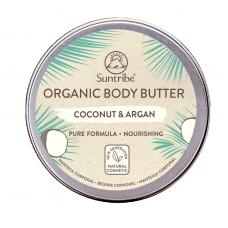 Unt de corp organic Cocos și Argan pt piele sensibilă, Suntribe