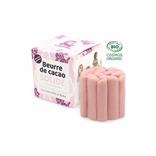 Unt roz de cacao organic solid pt fata si corp, cu Iris si Tonka - zero waste - Lamazuna 54gr