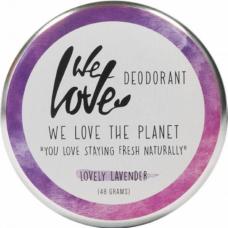 Deodorant natural cremă Lovely Lavender, We love the planet, 48 g