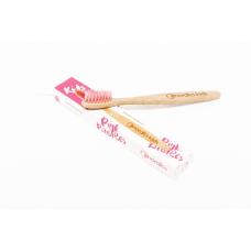 Periuță de dinți din bambus pentru copii // roz, Nordics