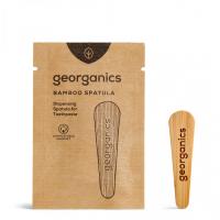 Spatulă din lemn pentru pasta de dinți la borcănaș, Georganics